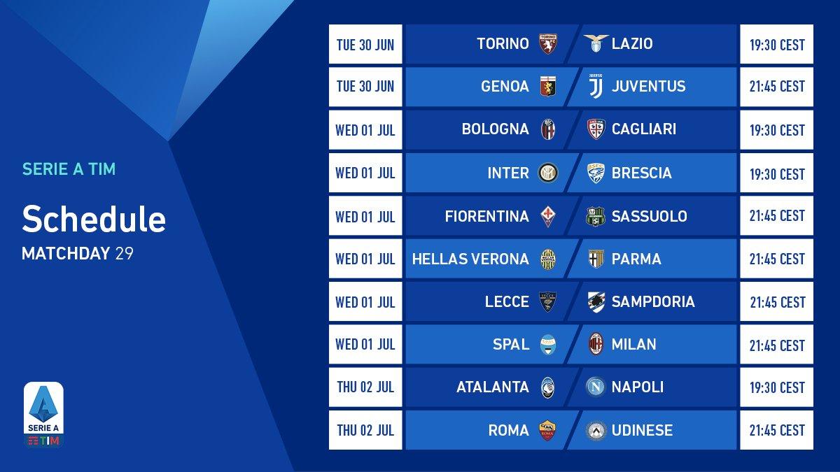 Nights of fire: the matchday 29 schedule 🔥 #SerieATIM #WeAreCalcio