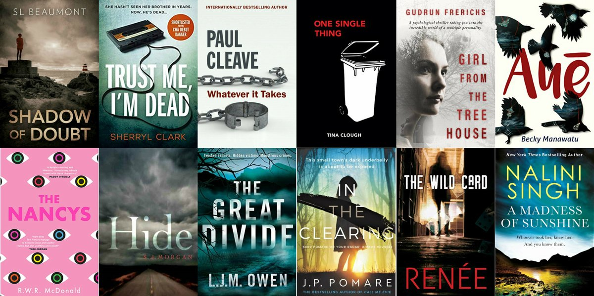 Whakamihi to all 12 authors on our #2020Ngaios Best Novel longlist. It's a lovely array of #yeahnoir (Kiwi crime, mystery, thriller, and suspense writing), with a variety of quite different tales and some fresh takes for readers all over the world to enjoy #yeahnoir #readnz https://t.co/jdWhdDXxdu