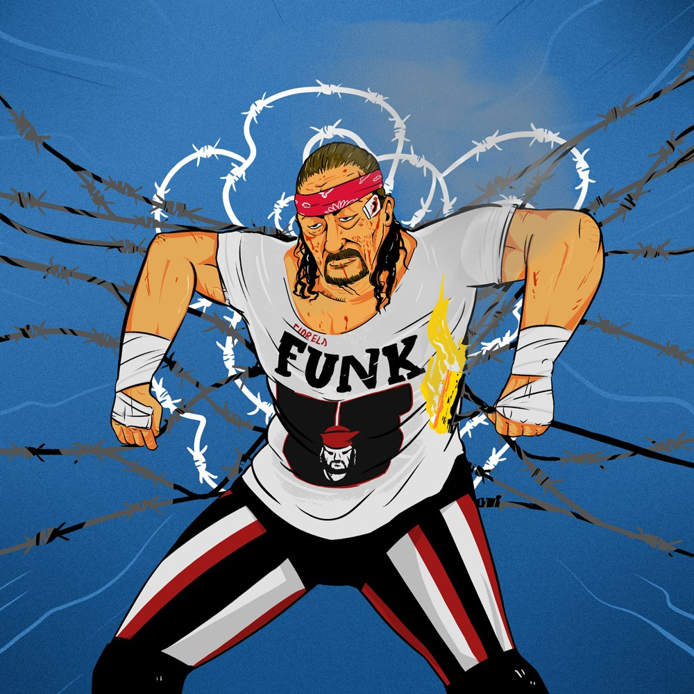 Happy birthday to Terry Funk! 76 today! Don\t forget! If you re on message, get to the shitter!""