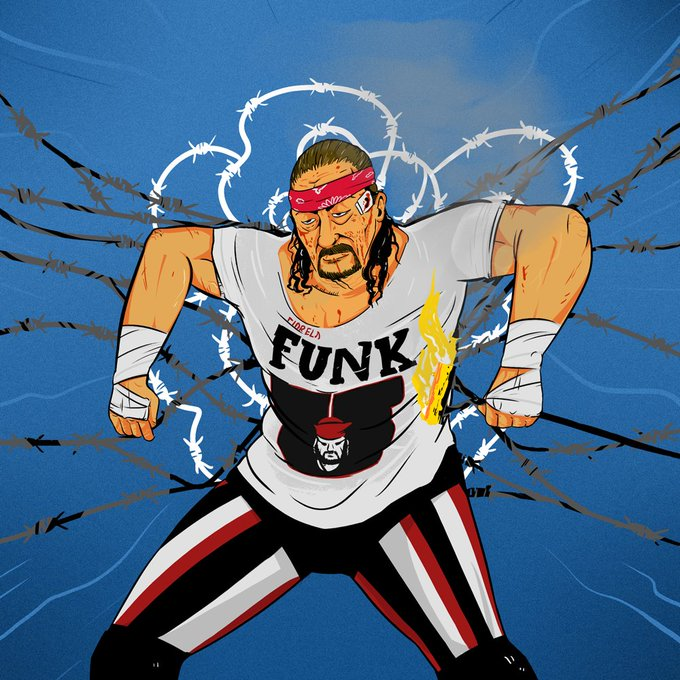 """Happy birthday to Terry Funk! 76 today! Don\t forget! If you re on message, get to the shitter!\"""""""