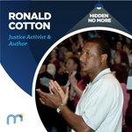 Image for the Tweet beginning: #HiddenNoMore Ronald Cotton, Justice Activist