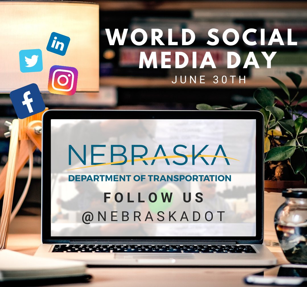 Today is #WorldSocialMediaDay! In case you didnt know, NDOT has social media accounts on Facebook, LinkedIn, Twitter and Instagram - so be sure to check them out! You can also find us on YouTube, where we post various videos on events that are occurring within the department.