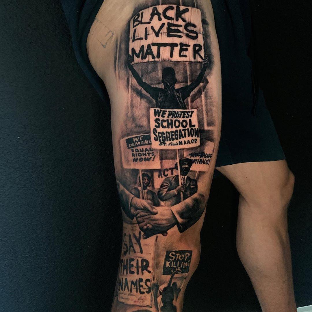 .@KSTiLLS' new leg sleeve. Powerful.