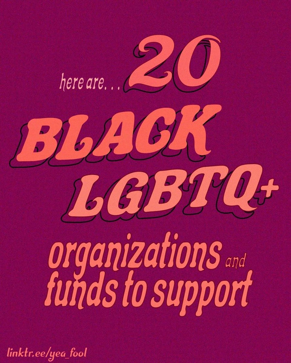 With #Pride month coming to a close, I wanted to share some Black LGBTQ+ orgs and funds to support. https://t.co/M4Qzw2UHnY