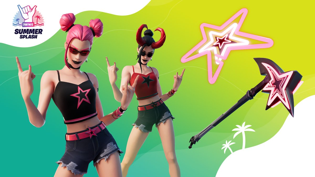 No clouds in the sky, yet a darkness still graces the beach. Check out the Demon Beach Set in the Item Shop now!