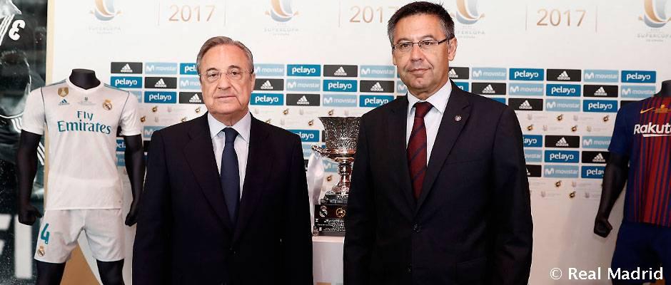 En esta foto se puede ver al mejor presidente de la historia del Madrid y a su lado Florentino.