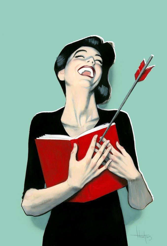 """Añado a mi bolsa de la compra dos volúmenes que con voz firme me han dicho:  """"Llévanos contigo, seremos felices juntos""""  'El amante de las librerías', Claude Roy 📔 https://t.co/sWpcN7d7Hn  🖌️ @FVicente_Illust https://t.co/if3hxMvTTB"""