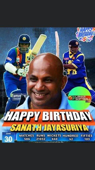 Great player of great game  Happy birthday Sanath Jayasuriya.
