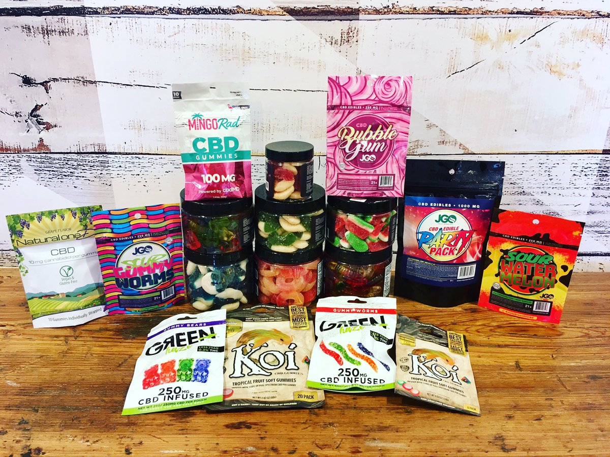 Have stress, anxiety, or pain? Check out our huge assortment of CBD gummies and edibles. We are here to help you with all of wellness needs. #cbdforanxiety #cbd #cbdforpain #cbdforstress #cbdlife #cbdhealth #cbdmovement #cbdhealthbenefits #hemplife #hempoil #cbdbusiness<br>http://pic.twitter.com/fVOVJH3iyT