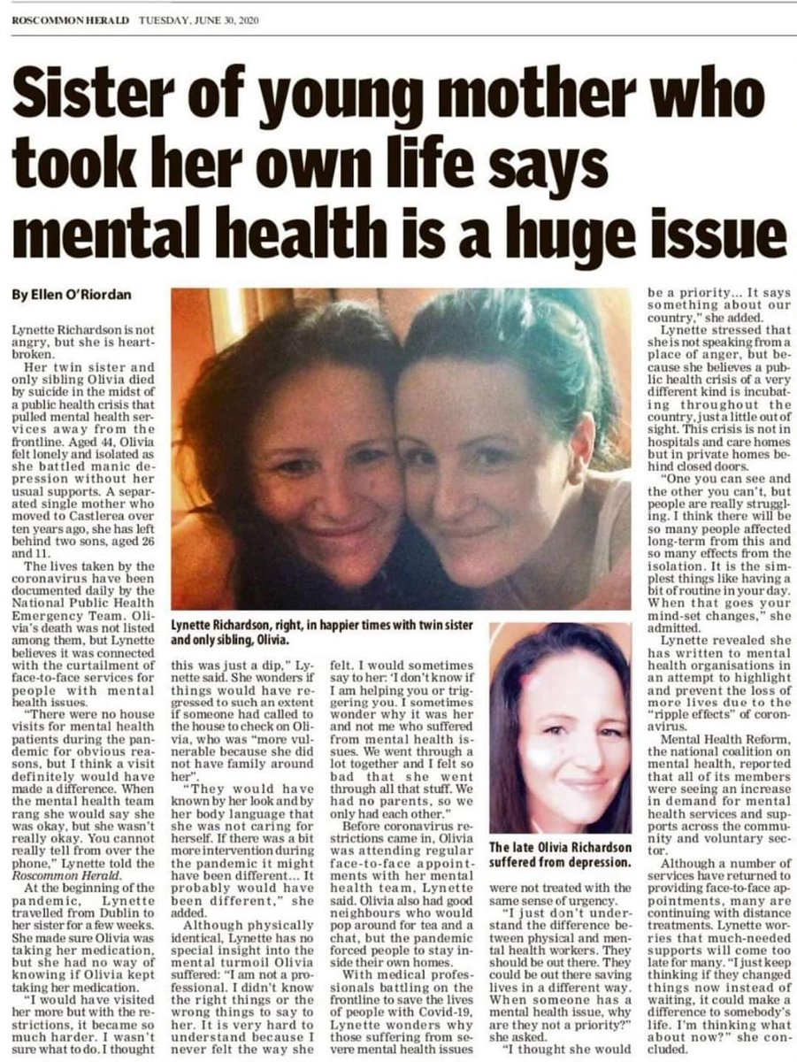 Time and time again Mental health services fail us in this country. No amount of money will fix this problem unless the correct support services are in place. Mental health is at crisis level in this country. When will the government solve this issue. @LeoVaradkar @FineGael https://t.co/fK2iKQq692