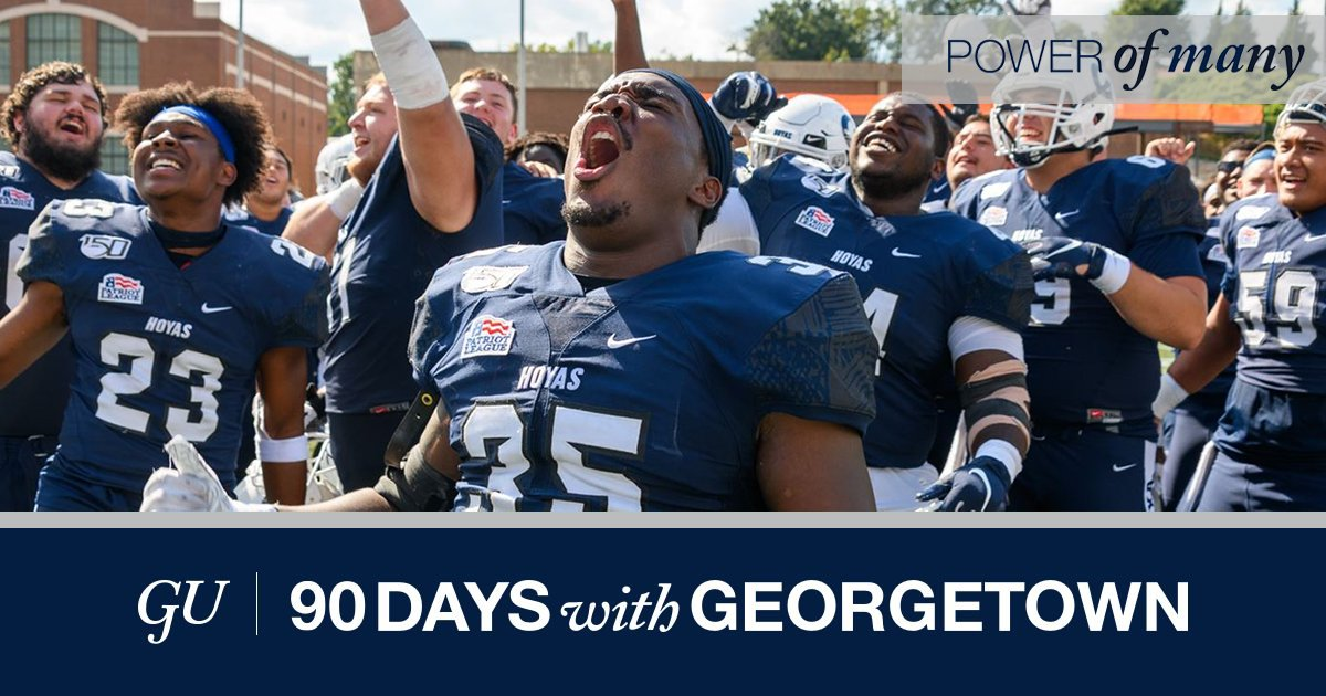 Today is the FINAL day of Georgetown's fiscal year, and our football student-athletes need your support! Join the Power of Many and make your gift before midnight tonight. g.town/3dAicKv