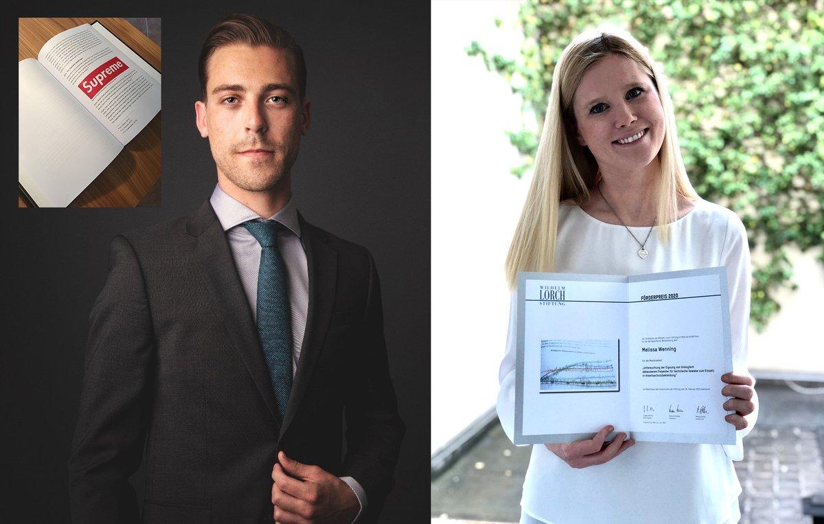 Marc Hübener und Melissa Wessing aus dem Fachbereich #textile haben die begehrten Förderpreise der Wilhelm-Lorch-Stiftung gewonnen. Herzlichen Glückwunsch! Was sie dafür gemacht haben steht in der PM: https://t.co/3Ysn5PxL3i https://t.co/18GvWyUfr9