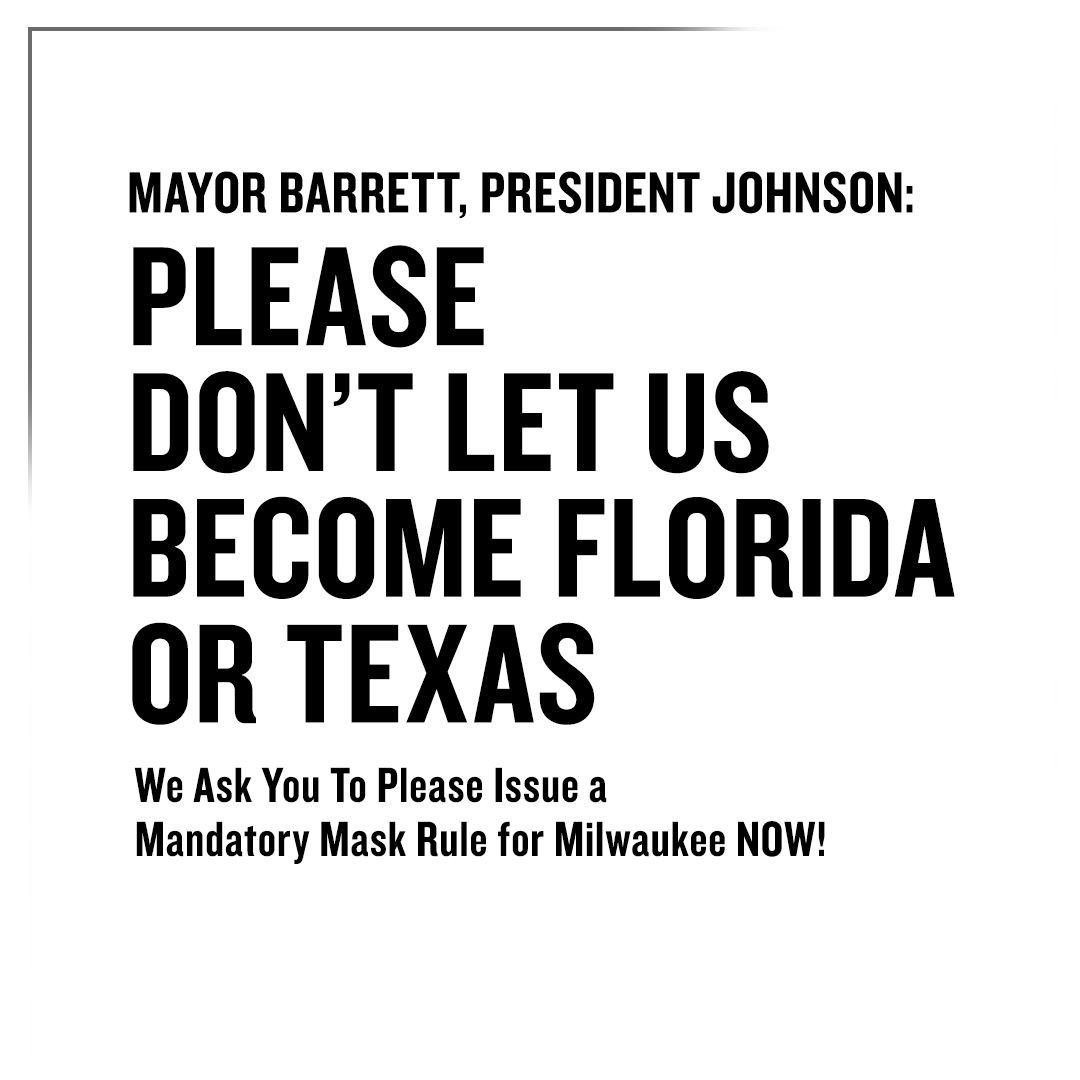 The Pabst Theater Group joins Milwaukee businesses in calling for a city-mandated mask requirement.   Read the letter here » https://t.co/iD1iKI15fM https://t.co/lwDhW3RPFn