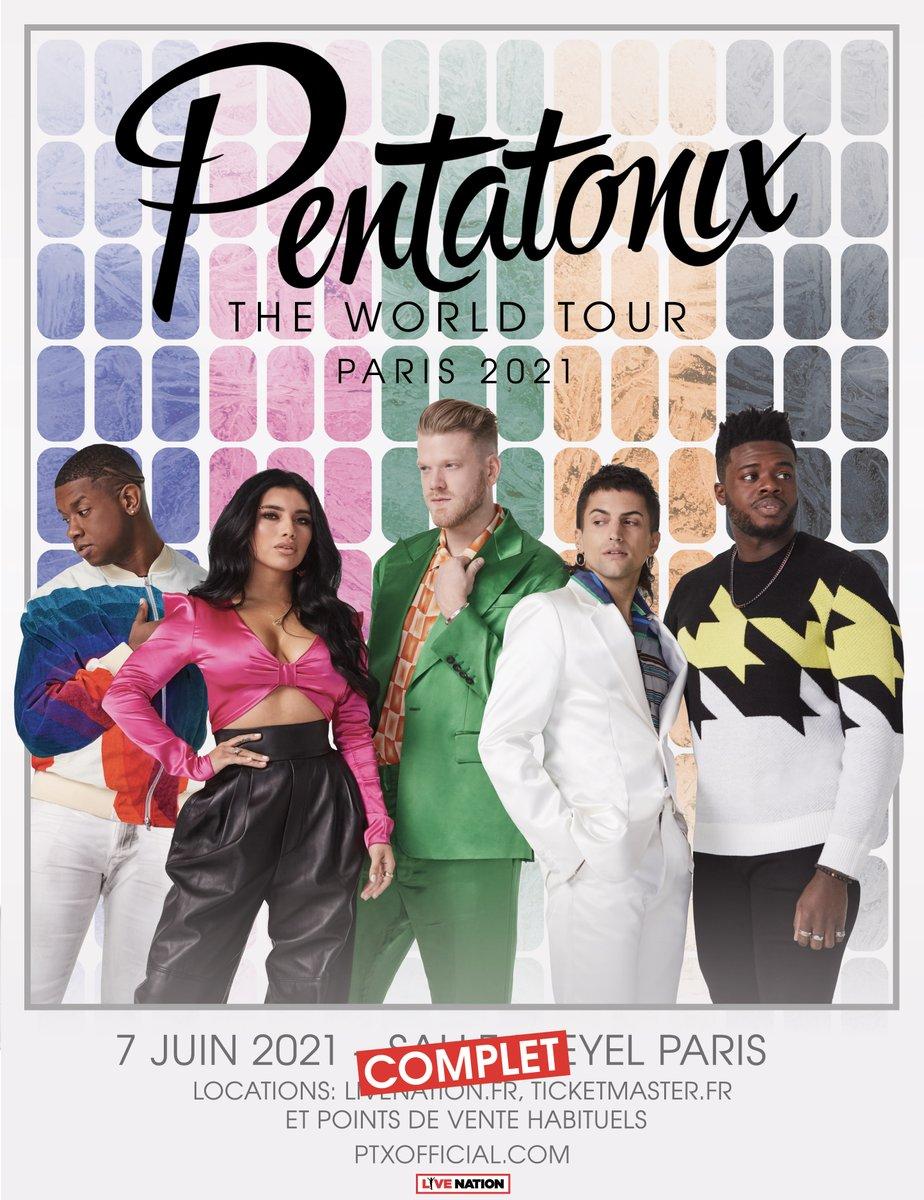 ➖PENTATONIX➖ @PTXofficial & @LivenationFR sommes heureux de vous annoncer que le concert initialement prévu le 26 mars 2020 à la Salle Pleyel est reporté 7 juin 2021 dans la même salle.  Les bille