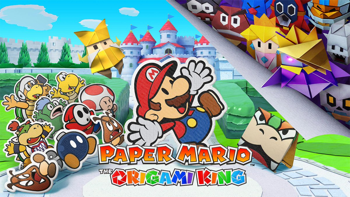 Paper Mario: The Origami King arrives July 17th on Nintendo Switch. Pre-Order for some sweet Mario origami paper sheets! 👌  https://t.co/zNOVCwVurg https://t.co/yXrJZsXYvD