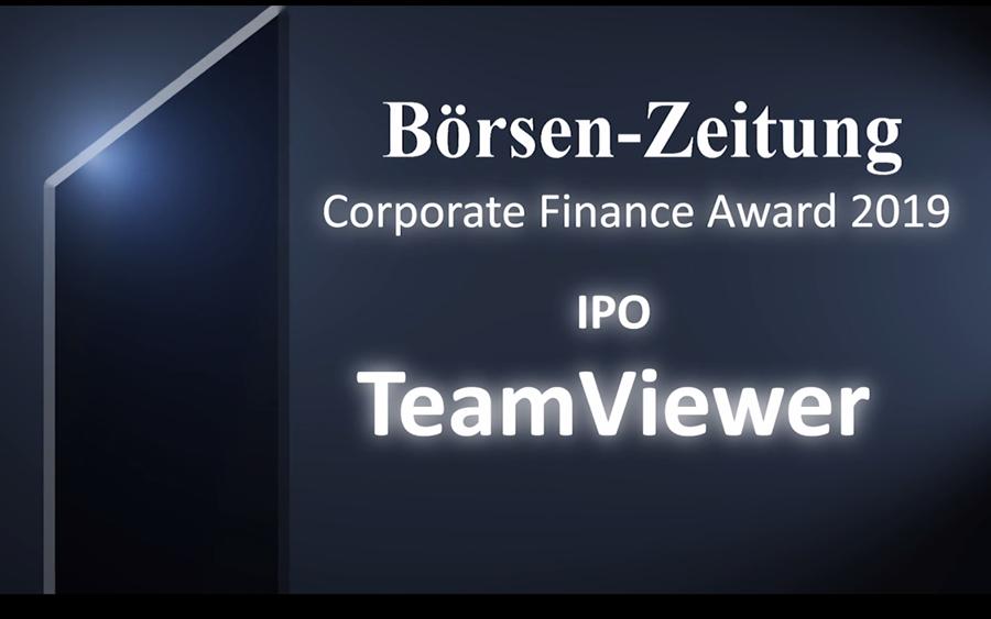 Der Gewinner des diesjährigen #CorporateFinanceAwards in der Kategorie #IPO heißt: @TeamViewer! Seit dem Börsengang hat sich die Firma in Windeseile zum begehrten Anlageobjekt gemausert - trotz oder gerade wegen #Corona.  Hier geht's zum Gewinnervideo:  https://t.co/6CruASMxoh https://t.co/uea0quRCz5