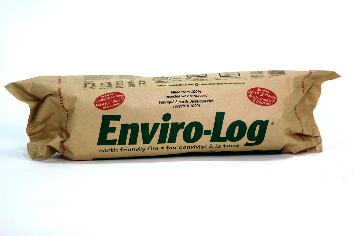 By choosing Enviro-Log Firelogs you are saving thousands of trees from being used as firewood each year.They are made from 100% #recycled waxed cardboard which is used to transport fruits and vegetables to grocery stores. They burn cleaner than firewood!  #recycle #closedloop https://t.co/JNlRnvYnQQ