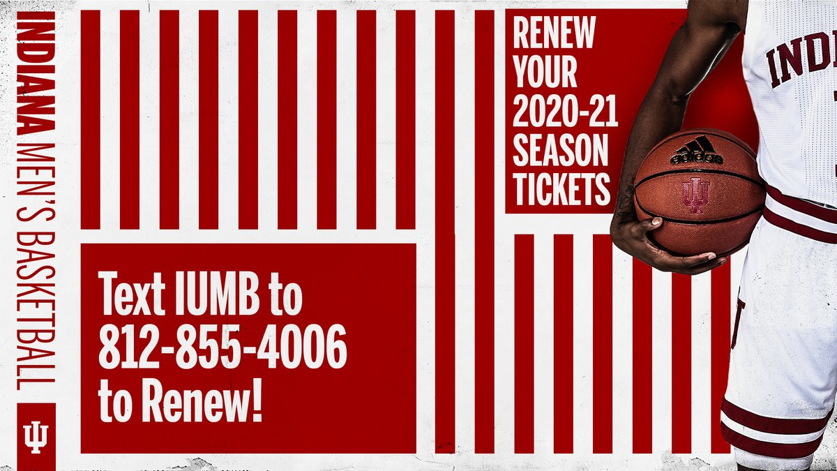 TODAY is the priority renewal deadline.  📱 Text IUMB to 812-855-4006 to renew your 2020-2021 @IndianaMBB season tickets‼️ https://t.co/Minsc6AUgC
