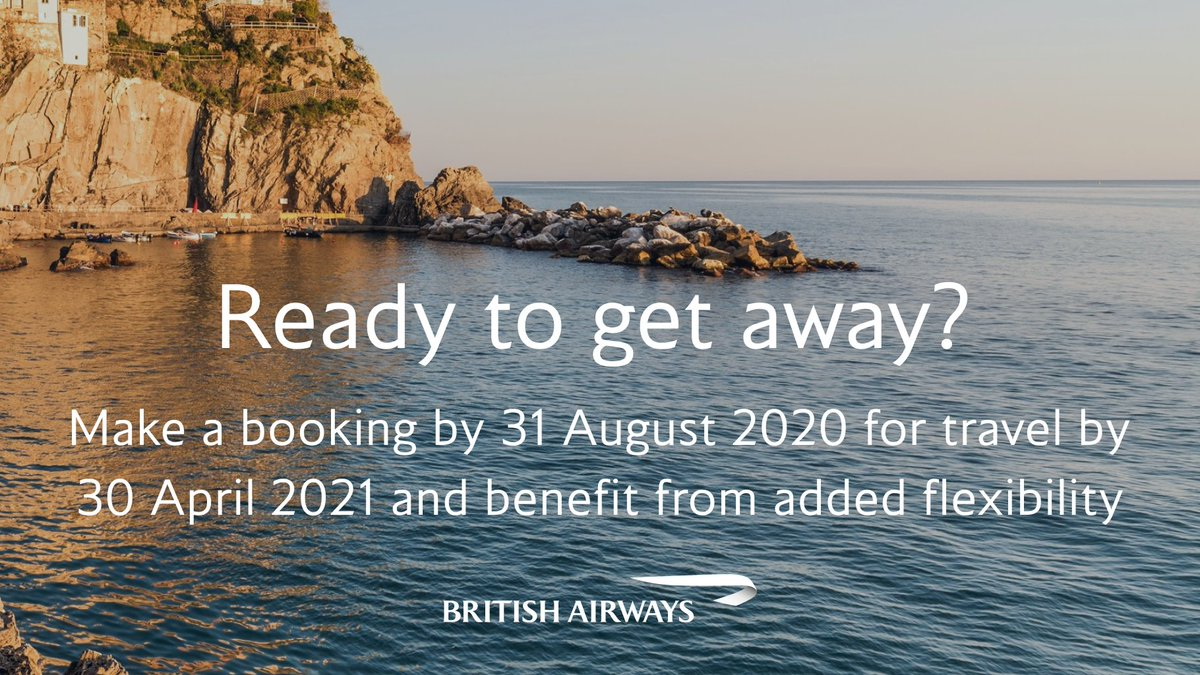 Plans can change. If you make a new booking by 31 August for travel by 30 April 2021, you can change your date, destination or cancel for a voucher. Find out more at https://t.co/AFkXsCMjQI https://t.co/9TlT5RU7vT