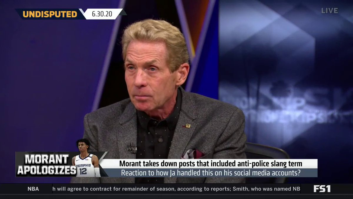 """""""The more I hear & see Ja Morant, the more I believe in this young man, as a man and a budding new star in the NBA. I don't think he'll be more valuable than Zion on the court, but off, he's a force to be reckoned with.""""  @RealSkipBayless on Ja using his platform off the court https://t.co/9xlgg5DI3E"""