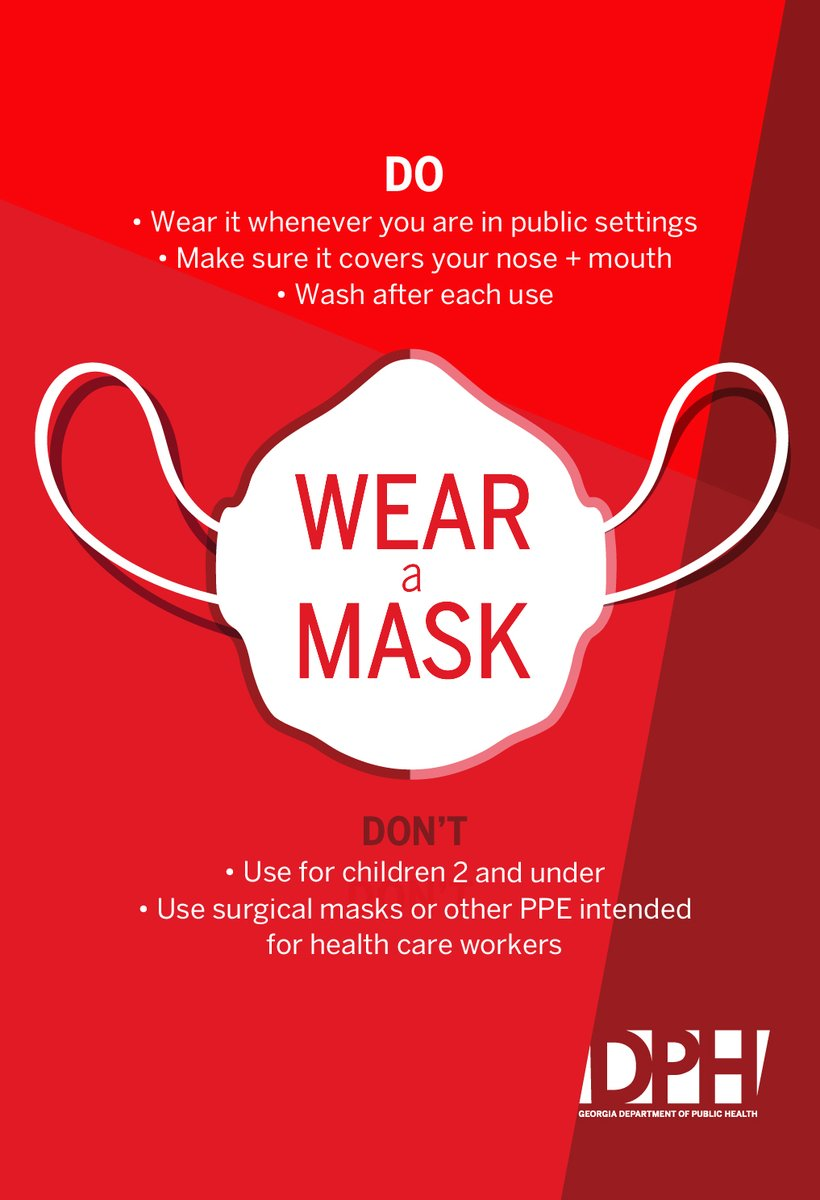 Masks help #slowthespread of COVID-19. Masks/face coverings act as simple barriers to help prevent respiratory droplets from traveling in the air and onto other people when the person wearing the mask coughs, sneezes, talks, or raises their voice. https://t.co/UDZjEzgL6j https://t.co/HMEqtrWxk4