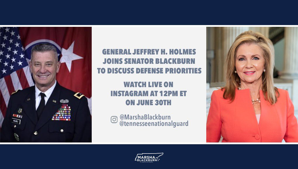 TUNE IN: I'll be live on Instagram in 30 minutes with@TNMilitaryDept Major General Jeffrey Holmes.