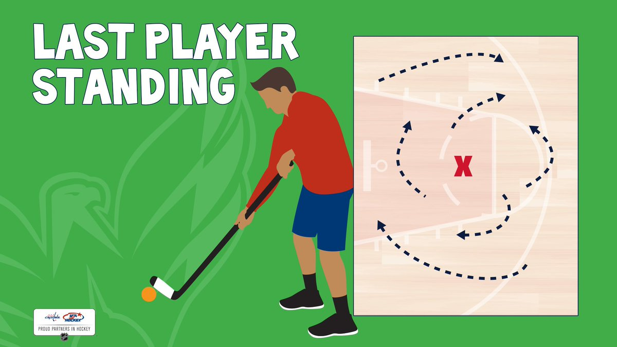 Gather some family members together for hockeys version of tag! Someone begins the game as IT and is without a ball/puck. The person who is IT has to steal the ball/puck away from the other players as they move around the designated area. #stickwithfitness #hockeyathome #ALLCAPS