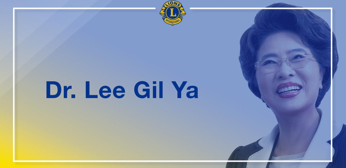 test Twitter Media - Dr. Lee Gil Ya is presented with the Lions Clubs International Humanitarian Award for her lifelong dedication to medical practice, education, social justice and humanitarian service throughout her country of South Korea. Congratulations, Dr. Lee Gil Ya! https://t.co/hgGA6r3qaJ https://t.co/xyrYlOd1Kl
