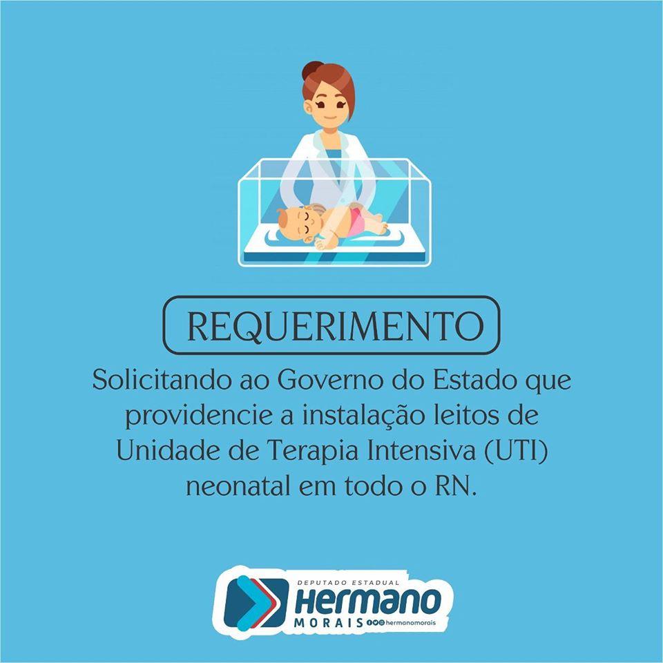 (A) Requerimento a Sesap para instalações de UTIs Neonatais em todo o Estado - https://t.co/SXSiqT8BBs https://t.co/gB08j5IbR1