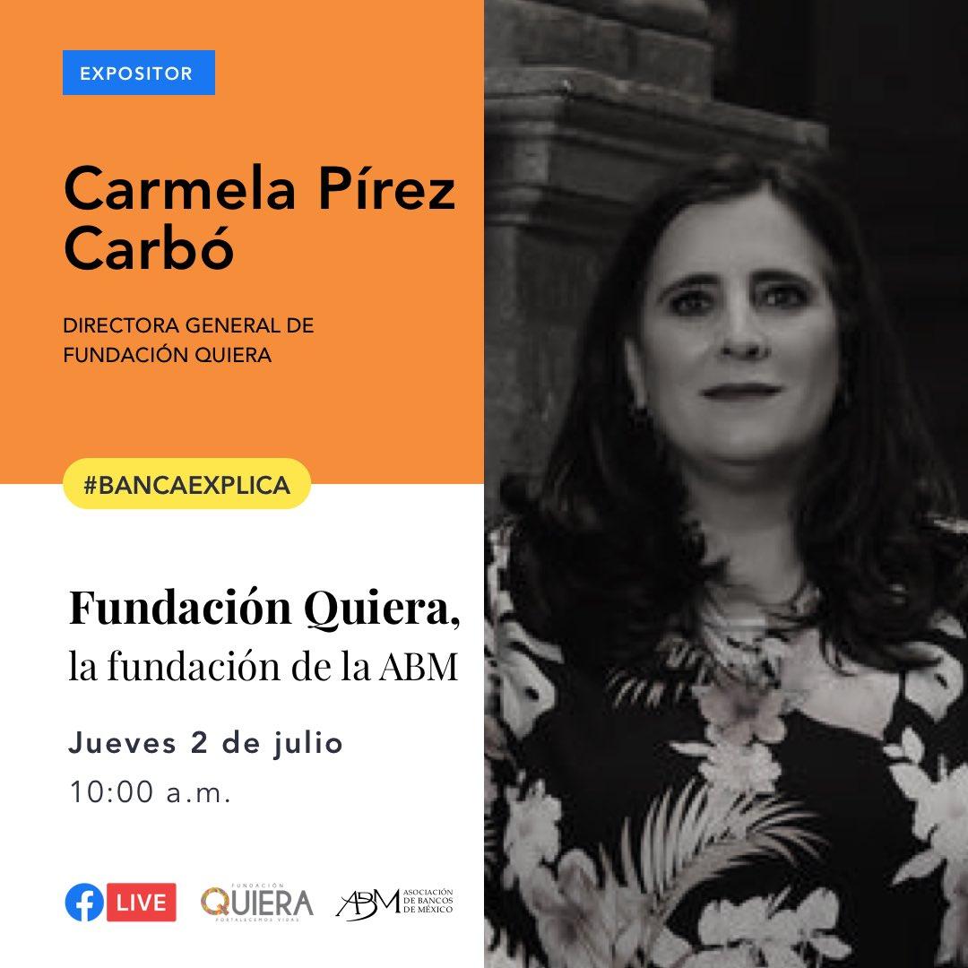Te esperamos en la novena transmisión de #BancaExplica este jueves 2 de julio a las 10:00 a.m.  Carmela Pírez Carbó, Directora de Fundación Quiera, estará con nosotros para hablar del panorama que enfrentan los niños y jóvenes en situación o riesgo de calle en México. https://t.co/EAV7NRjEy1