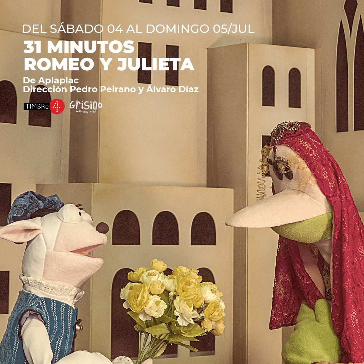 Para disfrutar el finde con los chicxs 🌈🌞 #TIMBRe4KIDS Tendrán disponible desde el Sábado hasta el Domingo a última hora una divertida obra de títeres. . 📍31 Minutos: Romeo y Julieta. . Todo en nuestra web. 😊👉 https://t.co/44tgAJsl4u . . . Auspiciado x @Grisinoar https://t.co/JTFGwT3zSu
