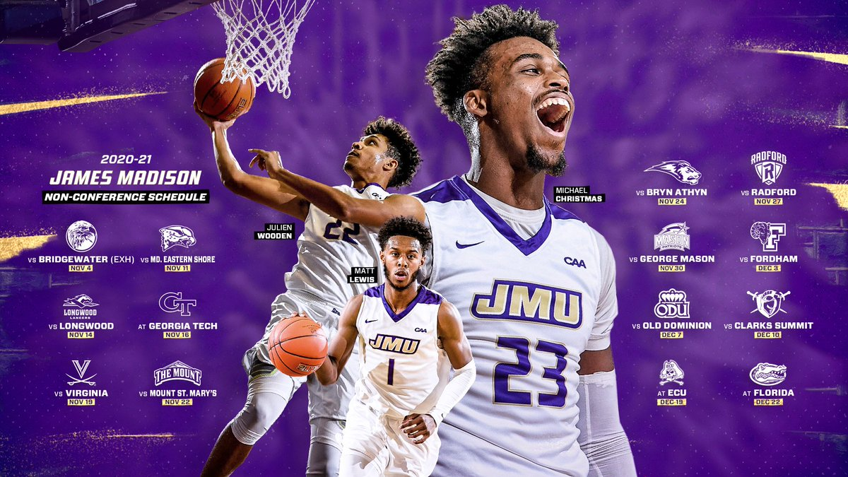ICYMI, the Dukes dropped their non-conference schedule yesterday afternoon!  Make sure you study up - plenty of chances to catch a game at home in the new digs!  📰 | https://t.co/eG7rDuidHT 🗓 | https://t.co/1SoXryOclJ  #GoDukes https://t.co/IwTNawpkuB