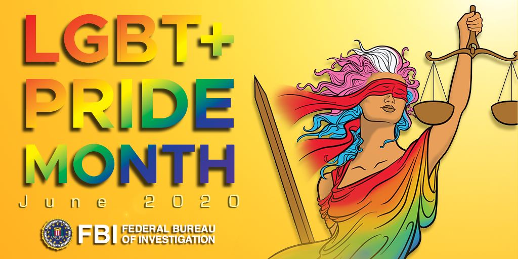 On the last day of #PrideMonth, we thank our #LGBT+ colleagues for for their contributions to our community and their service to the #FBI mission. We're proud to serve with you all year long. https://t.co/nlPXvkKZQv