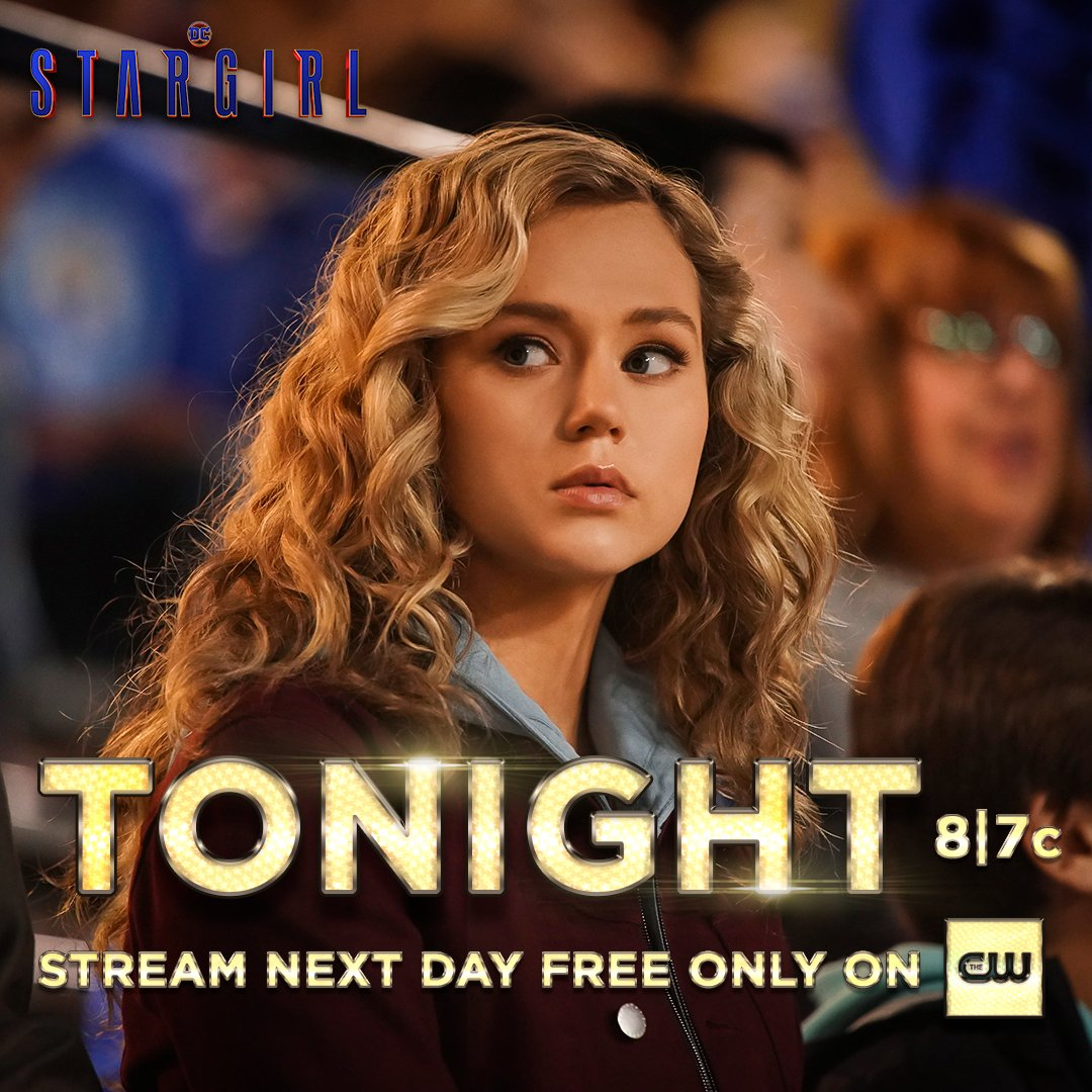 On the lookout for the ISA. New episode airs tonight at 8/7c. Stream tomorrow free only on The CW App! #DCStargirl https://t.co/kfluHUVcHN