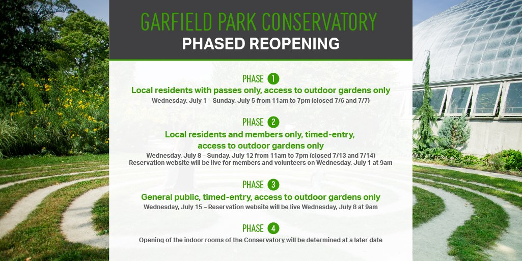 Garfield Park Conservatory On Twitter We Will Gradually Reopen The Outdoor Gardens To The Public Phase 1 Welcomes Garfieldpark Neighbors Starting Tomorrow Learn More At Https T Co Te94md9dbq Https T Co V6tk6r94b4