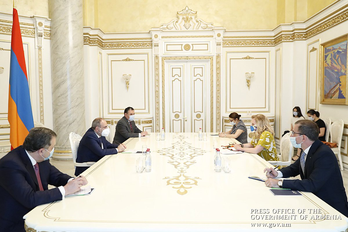 Council of Europe is among #Armenia's most important partners on the way of developing and strengthening democracy in our country. Prime Minister Nikol Pashinyan received Head of the Council of Europe Office in Yerevan Natalia Vutova. https://t.co/trsRqwStHb