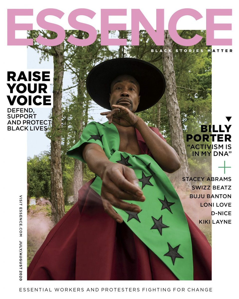 Billy Porter is the first gay man to grace the cover of @Essence. I had the honor of sharing (digital) space with him a few weeks ago.  My cover story with the national treasure @theebillyporter: https://t.co/yRq9UDGzC1 https://t.co/FqDI8GwjEX