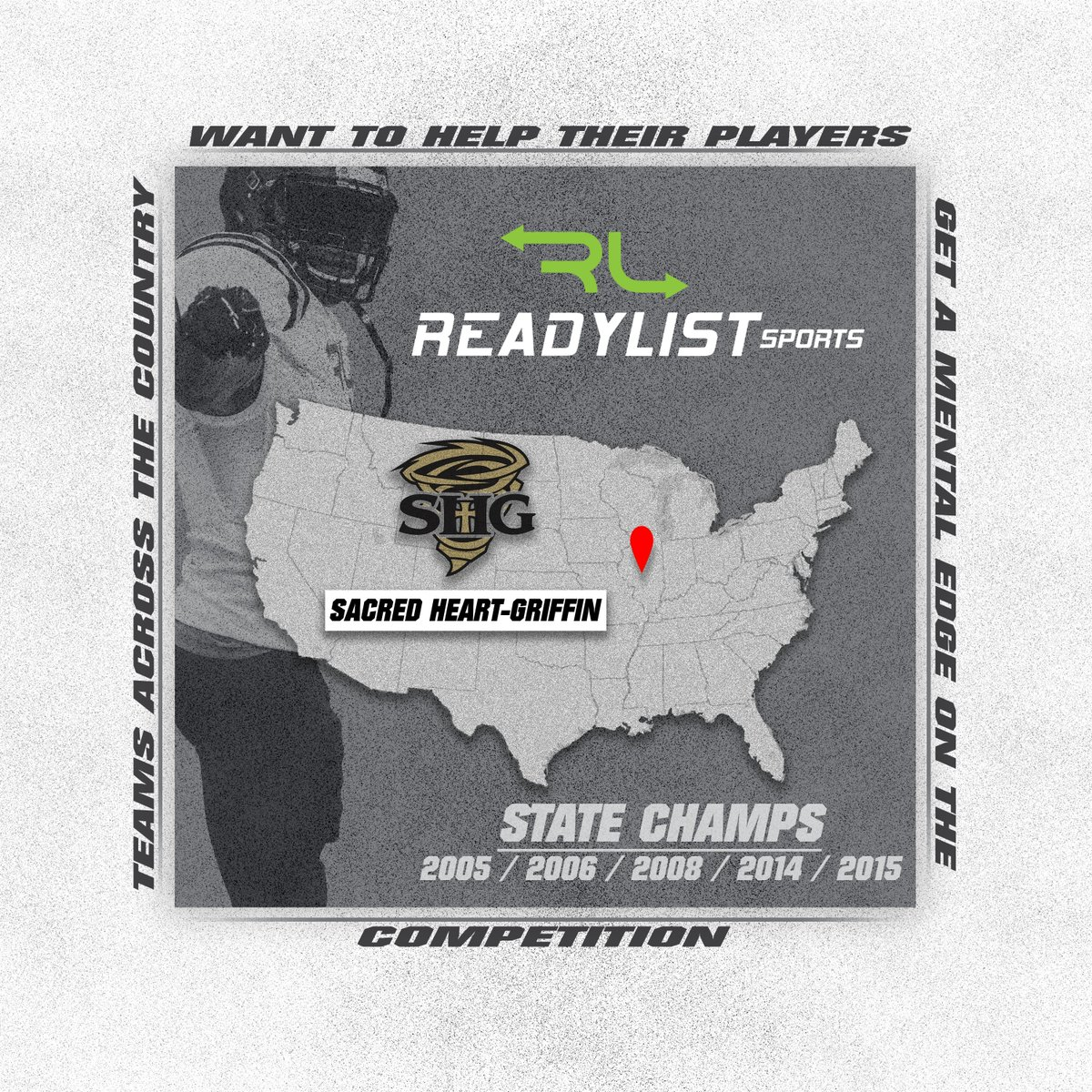 Sacred Heart-Griffin, perennial powerhouse out of Springfield Illinois, is hungry to win another state title. We're excited to welcome the Cyclones to the ReadyList Sports team. @SHGCyclones #Getinyourplaybook #Cyclones #Football https://t.co/yc4npRV2Mz