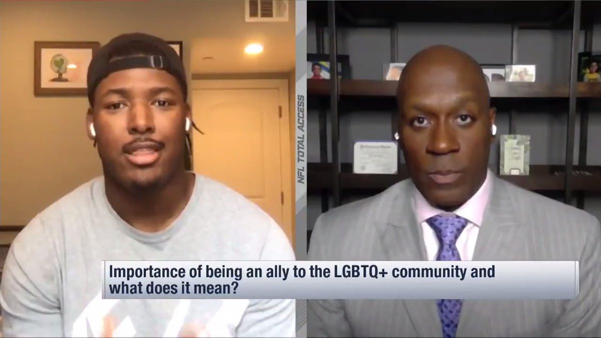 """""""Athletes know how to be allies. It's the same way you be a great teammate.""""  @RKRelentless, @billybeanball, @jeffrichadiha and @MJAcostaTV on how players can set an important example for the rest of the world as LGBTQ+ allies. https://t.co/jigZelvFOE"""