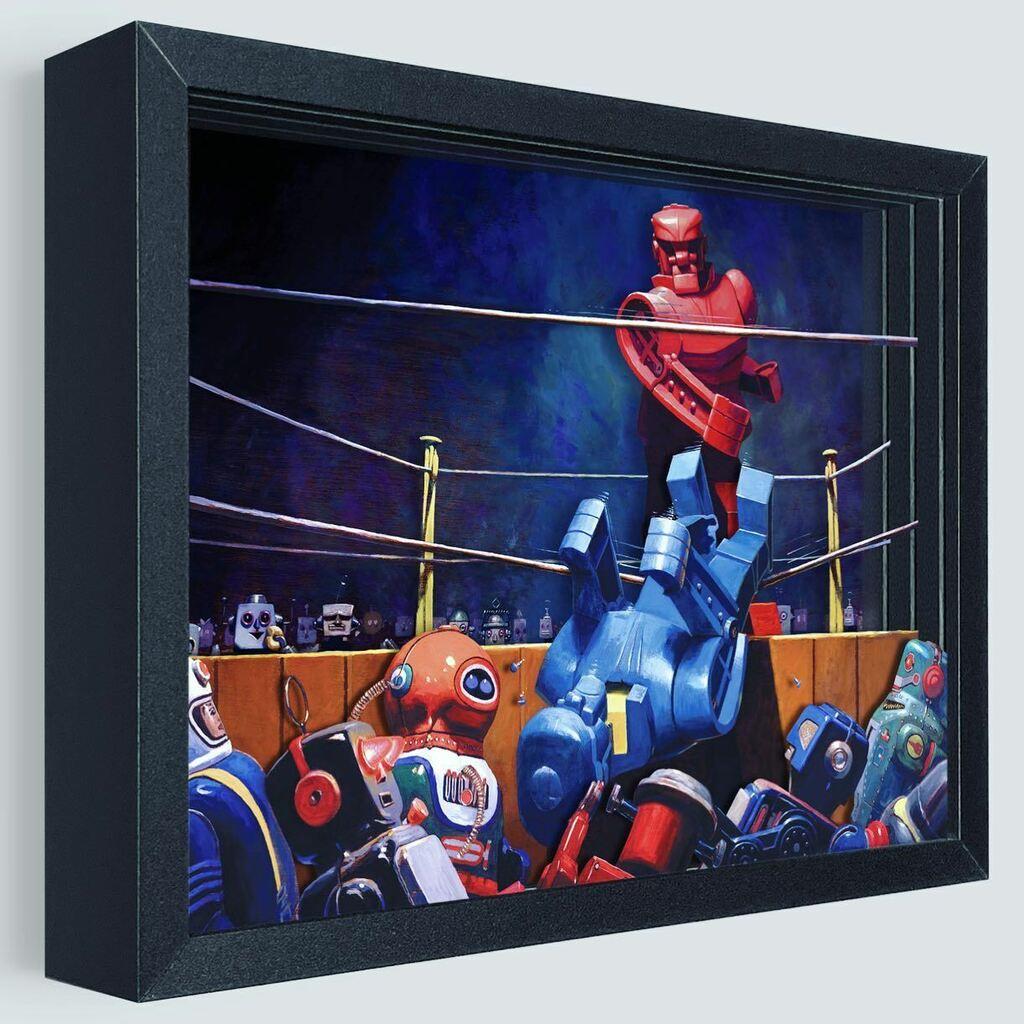 Rock 'em, Sock 'em, it's the Final Blow by Artist Eric Joyner - Now in 3D https://t.co/Of4vGxGZ0J  @eric_s_j #art #artwork #artist #shadowbox #robot #rockemsockem #toys #robotsanddonuts #game #boxing #fight #retro #3d #official #ericjoyner https://t.co/oTyDFdlRmN