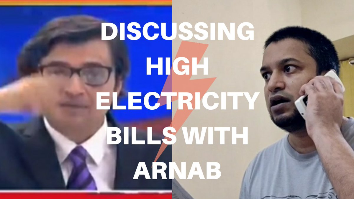 Discussing High Electricity Bills with Arnab.. https://t.co/JwG6v0Vos5