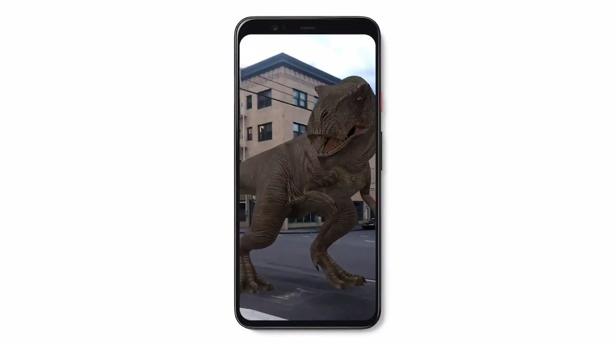"""Thought AR cats and tigers were fun? Now you can turn your home into #JurassicWorld with AR dinosaurs. Search for dinosaurs using your mobile device and tap """"View in 3D"""" to see them in your room. Share your best creations using #Google3D #3Ddinos. https://t.co/BjAYYywfoX 🦕🦖 https://t.co/QXjd7RhEtz"""