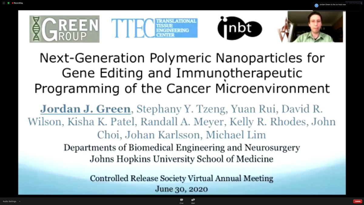 Thanks everyone we had a lot of fun during this session. Lot of interest and questions. Thanks to all the speakers and our session chair @JulieNguyenLab. If you missed this session, tune in again for the recorded session.