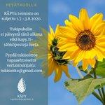 Image for the Tweet beginning: KÄPYn toimisto on kesätauolla 1.7.-3.8.