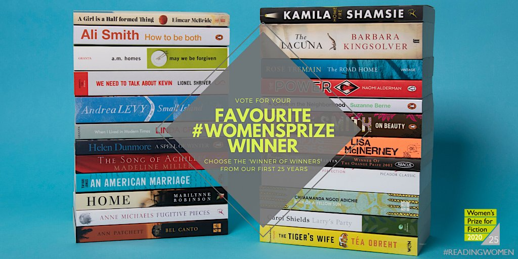 Do you have a favourite #WomensPrize winner? @WomensPrize    Celebrate 25 years of #ReadingWomen by casting your vote for the Women's Prize 'winner of winners', to be announced this autumn.   Take your pick: https://t.co/rFCqIZg5V8 https://t.co/uhMvCqRA7K
