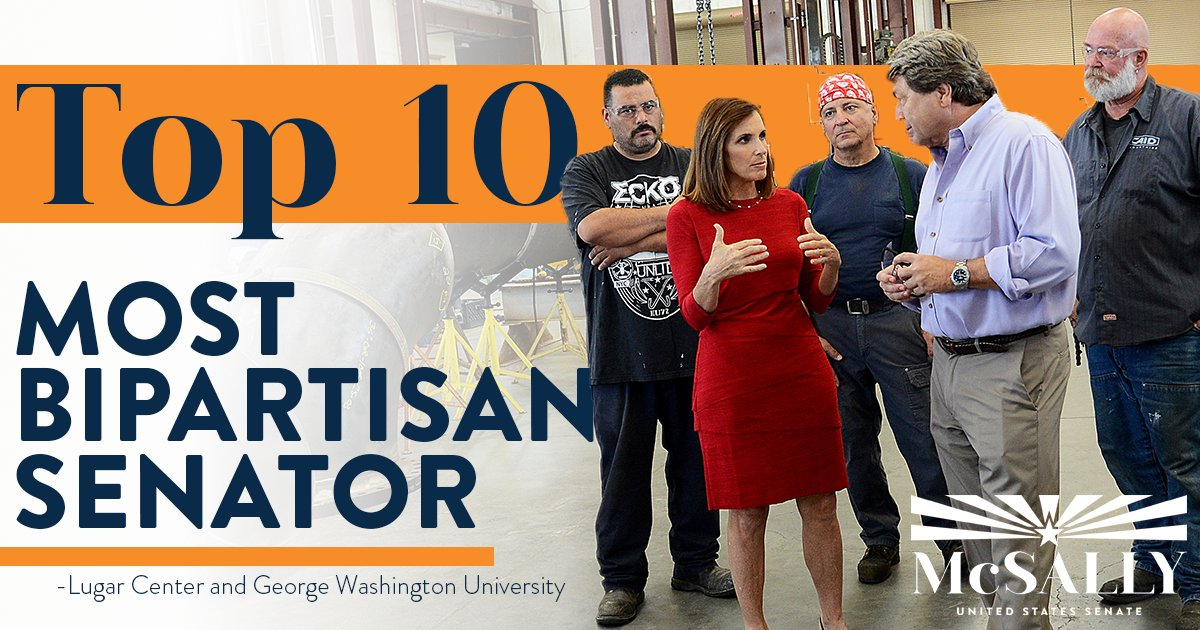 Honored to be named one of the most bipartisan senators! There's always more that unites us than divides us.