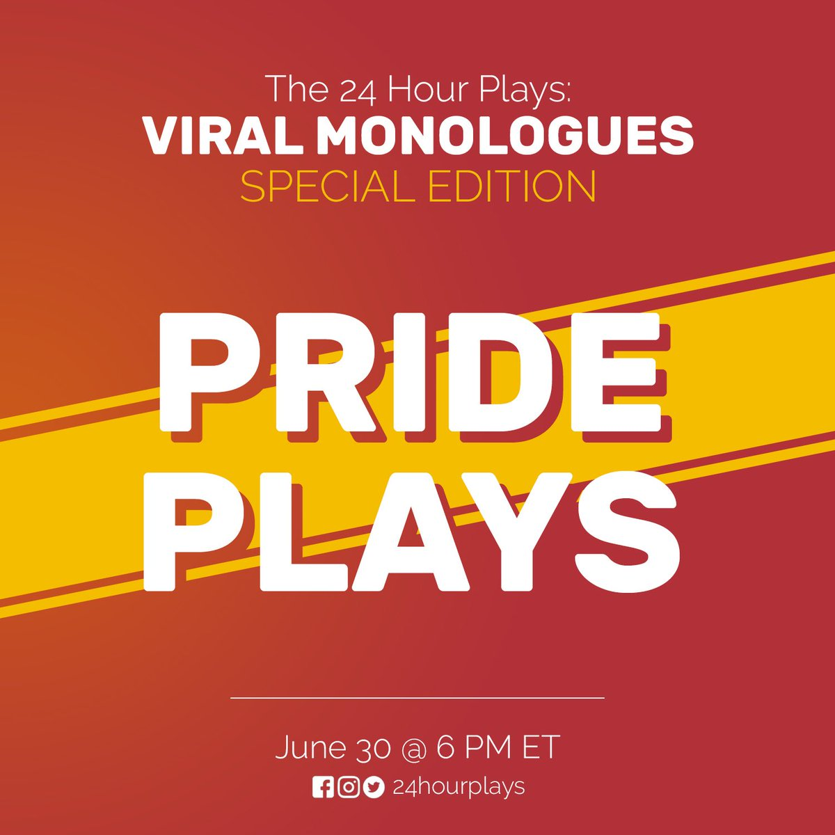 Stay tuned!! I wrote something cute. Coming to you tonight! #writer #prideplays #24hourplays