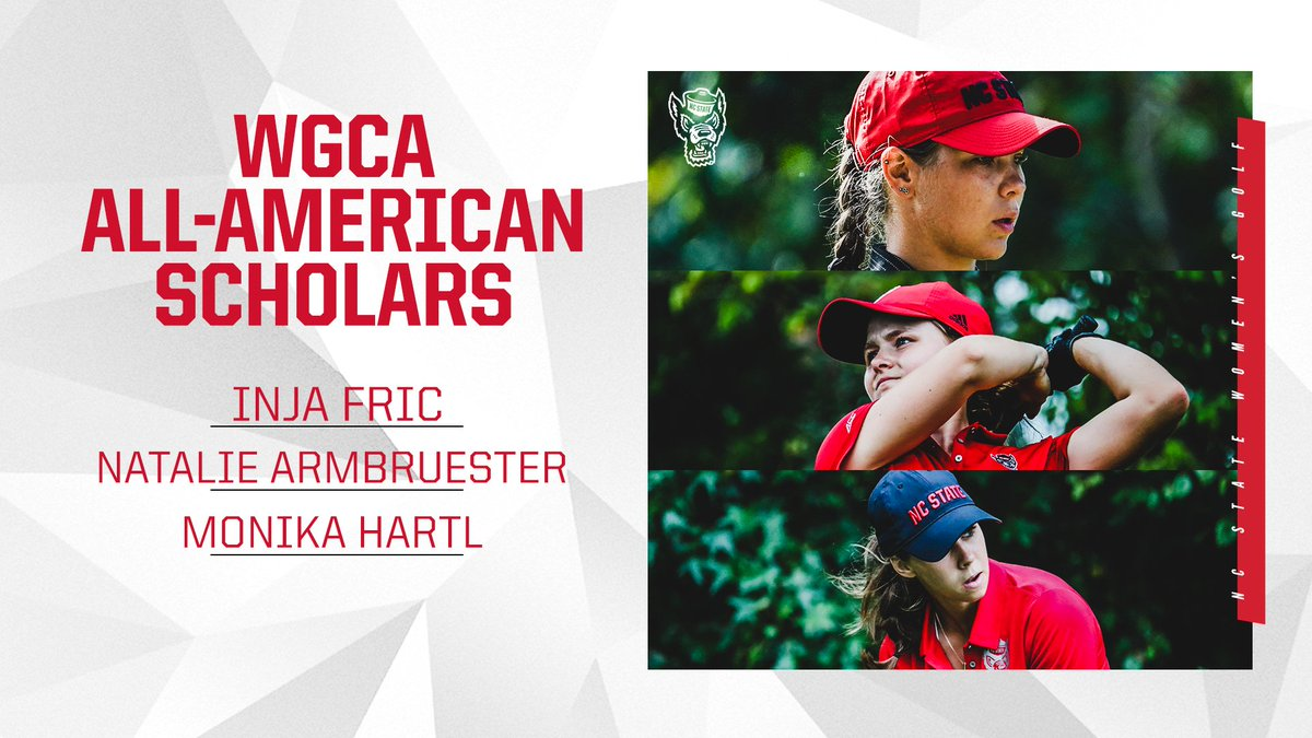 We had a program-record THREE players earn WGCA All-America Scholar honors. Proud of these ladies for getting it done on the course and in the classroom!   🔗https://t.co/v6aSiFpxbg https://t.co/7IodQbwccu