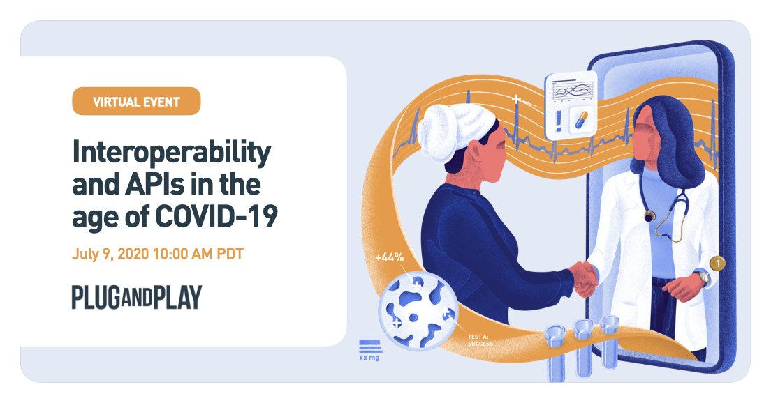 We're hosting a discussion with @HealthGorilla to learn how #digitalhealth organizations are leveraging #interoperability and #APIs during the pandemic. There will be a panel & presentations by @virtahealth, @HealApp, and @Apixio.  Register here 👉 https://t.co/PTBRbe27FE https://t.co/SvjlWGbgpA