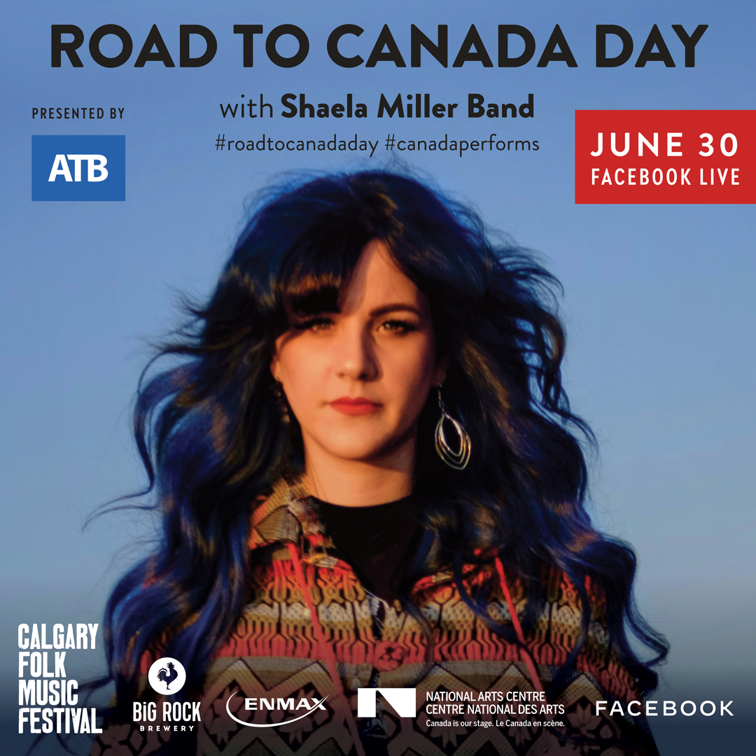 TONIGHT! @ShaelaMillerAB and band will be on Facebook Live at 7:30 PM (MT) for a FREE concert event as part of @CanadasNAC's #roadtocanadaday.  RSVP here:  https://t.co/ORh9xTBpcc https://t.co/LkMhTtmBCi